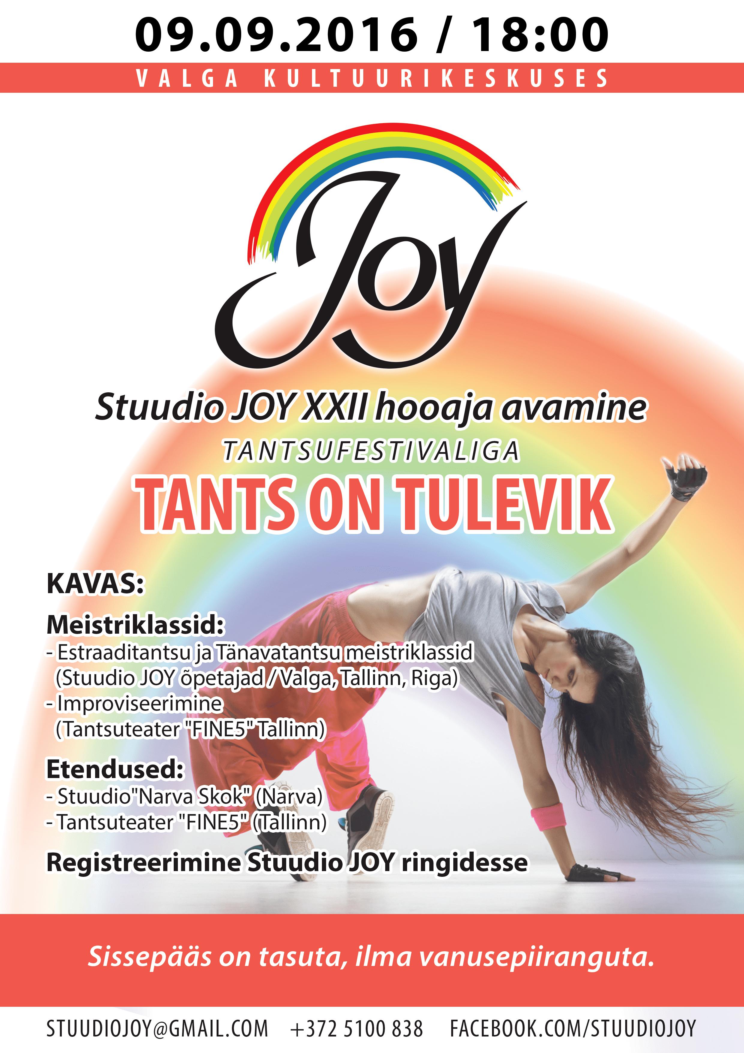 VALGA Stuudio 'JOY' uue hooaja avamine 2016/2017